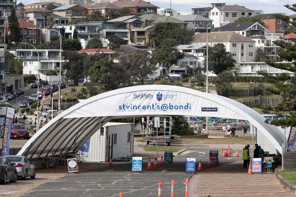 A COVID-19 testing clinic at Bondi Beach.CREDITBROOK MICTHELL