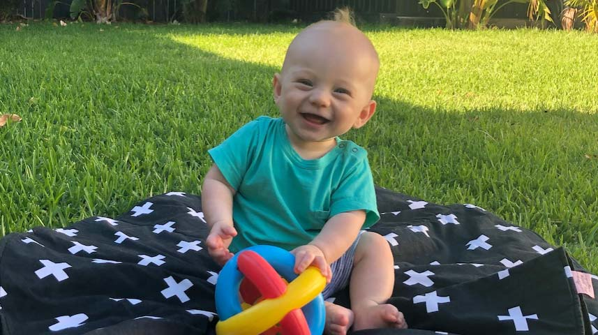 Seven-month-old Jack Loh was found unresponsive on his fourth visit to a daycare centre.(Supplied)