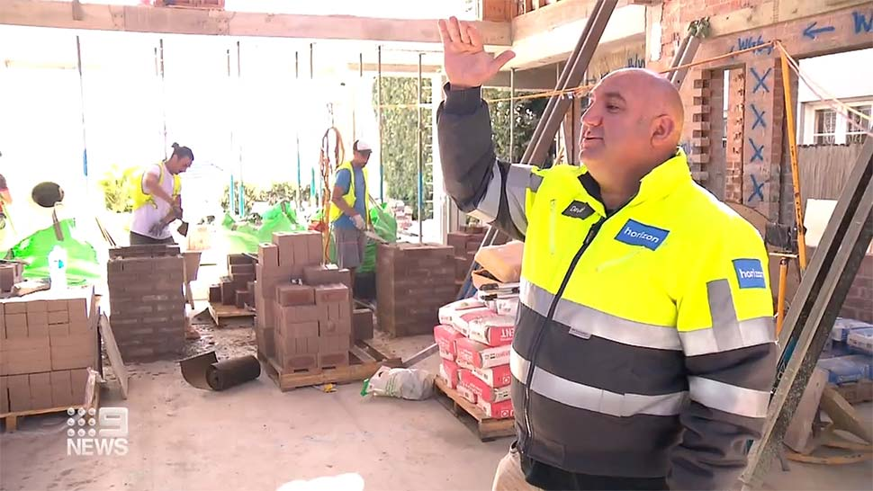Billions of dollars of pandemic savings are being ploughed back into homes, which is leading to a tradie and materials shortage and forcing up prices. (9News)