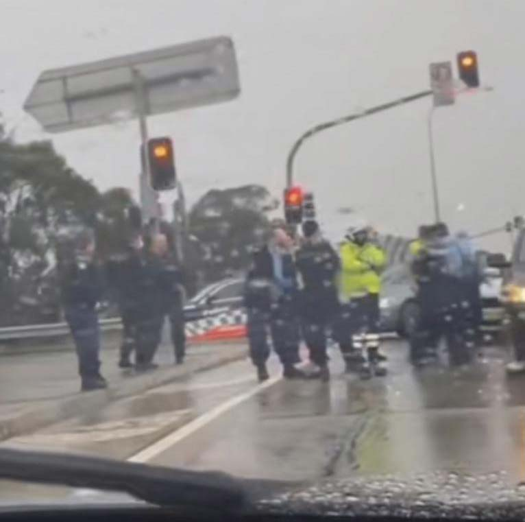 Footage of the arrest captured by a driver_Picture_TikTok_leah_t_c_f_Source_Supplied