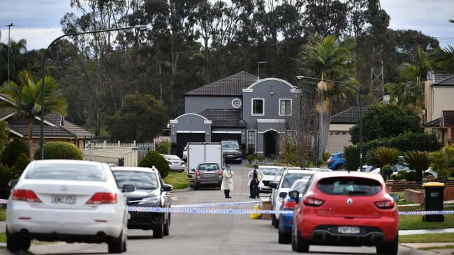 NSW Police established a crime scene at Thursday Place in Green Valley after discovering the body of a woman in her 50s. Picture NCA NewsWireJoel Carrett