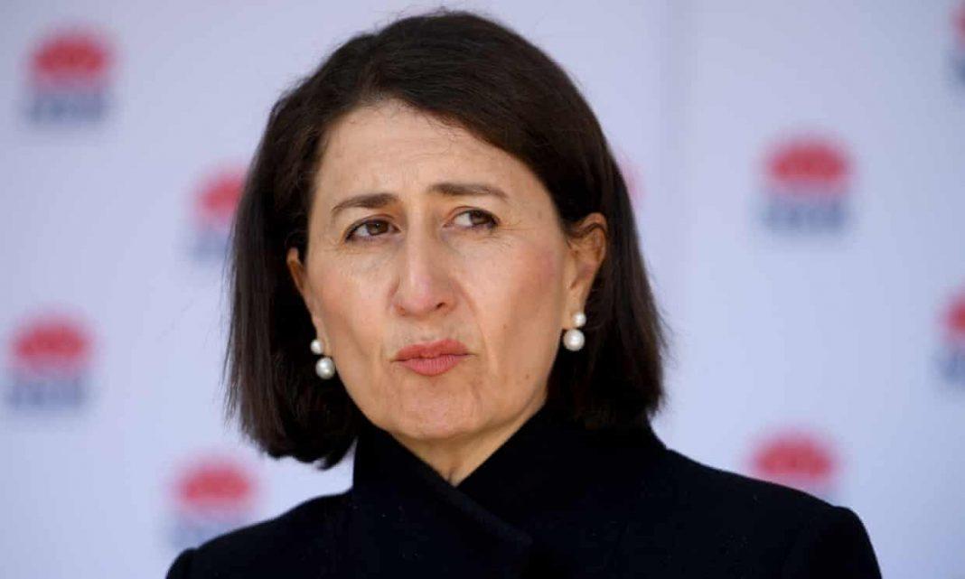 NSW premier Gladys Berejiklian addresses media on Wednesday. Photograph Dan HimbrechtsAAP