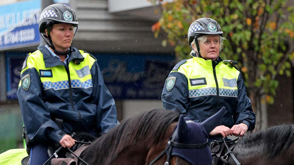 Police have been out in force. Picture NCA NewsWire Damian ShawSourceNews Corp Australia