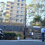 The apartment block in Bondi Junction is under police guard after several residents tested positive to COVID-19_AAP_Mick Tsikas