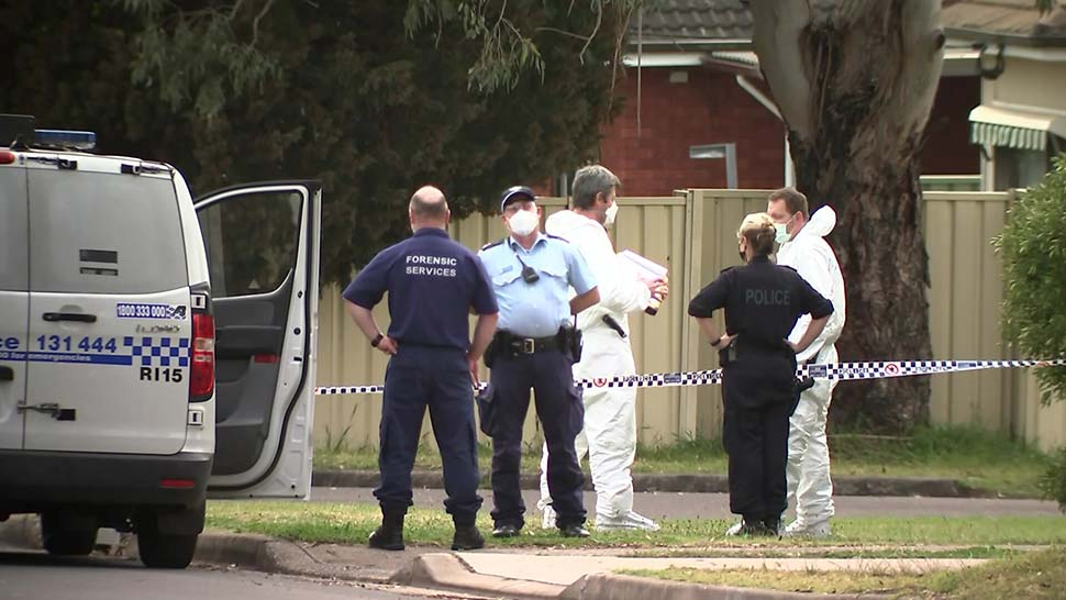 A crime scene was established on the street in Blacktown where the incident took place.(ABC News)