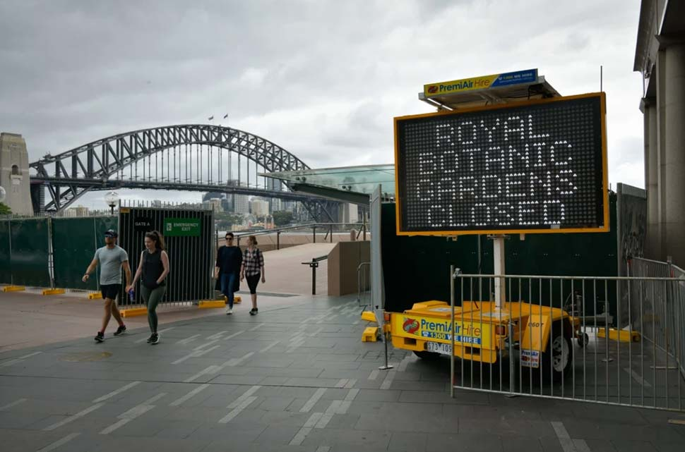 Circular Quay was locked down last year to prevent New Year's Eve celebrations. CREDITWOLTER PEETERS