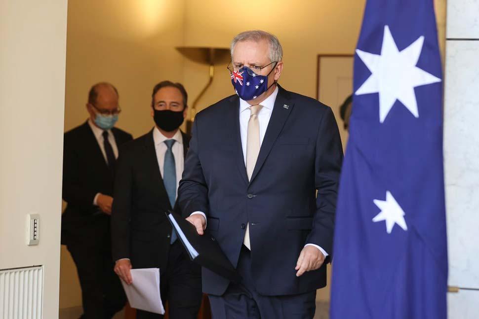 Prime Minister Scott Morrison on Friday.CREDITALEX ELLINGHAUSEN