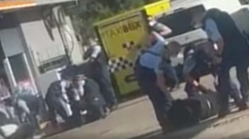 The altercation occurred at a Guildford service station on Friday afternoon. Credit Supplied