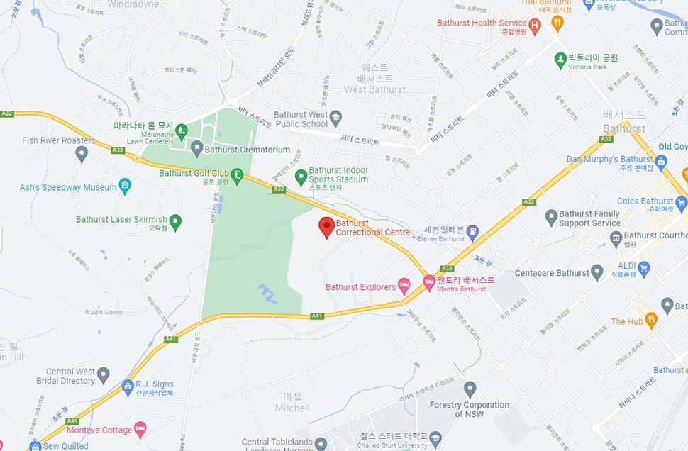 googlemap-Bathurst-correctional-centre