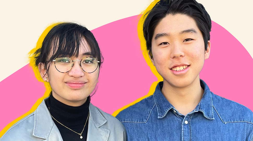 Teenagers Sabina and Jinyoung created an anti-racism kit for students.(SuppliedABC Everyday)